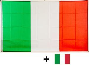 Flagge Italien 90 x 150 cm mit Ösen + gratis Aufkleber