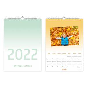 Fotokalender Bastelkalender Verlauf mit Feiertagen 2022
