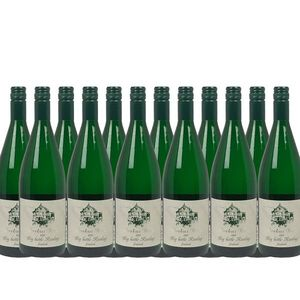 Weißwein Mosel Riesling Weingut Markus Burg Qualitätswein Big Bottle feinherb und vegan (12 x 1,0l)