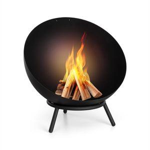 Fireball Feuerschale | Ø 60 cm | kippbare Feuerstelle | Ø 3 mm Stahl-Feuerschale | horizontal und diagonal nutzbar | Design in Berlin | Regenschutzhülle | FireView: Lagerfeuerromantik