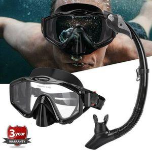 Unisex  Schnorchelset Erwachsene Tauchmaske Taucherbrille Kit mit Schnorchelrohr Schwarz