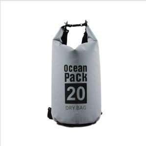 Wasserdichter Dry Bag, 20L Wasserdicht Taschen mit Schnalle, (grau) wasserdichte Packsäcke Verstellbaren Schultergurten für Boot, Kajak, Angeln, Rafting, Schwimmen, Strand