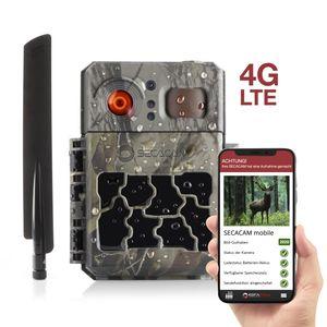 SECACAM PRO Plus mobile LTE, 4G Wildkamera inkl. 100 Bilder, mit SIM-Karte, App, Fernbedienung, sendefähig Bildübertragung Handy, sofort einsatzbereit