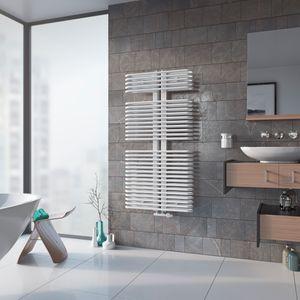 Badheizkörper Design gebogen Handtuchwärmer Mittelanschluss XIMAX K3 Weiss Höhe 1720 mm, Breite 600 mm, 1517 Watt