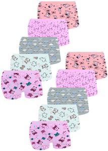 10 Mädchen Pantys aus Baumwolle Unterwäsche Gr. 116-122 (6-7 Jahre)