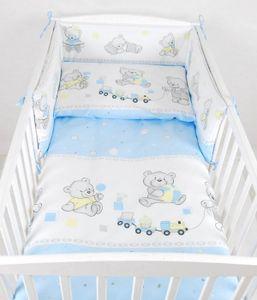 BABYLUX Kinderbettwäsche 2 Tlg. 100 x 135cm Bettwäsche 70. Bär Cookie Blau