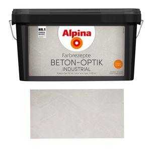 Alpina Farbrezepte Beton-Optik Industrial, Struktur-Farbe Beton-Design Hellgrau