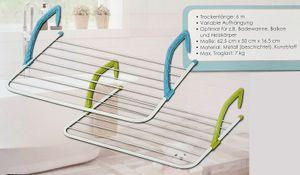 Hängewäschetrockner - Optimal für Badewanne, Balkon etc.
