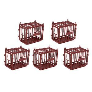 5 Stück Hamsterkäfig Kleintierkäfig Mäusekäfig, 9,7 x 5,6 x 8,2 cm, rot