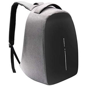 Business Rucksack Damen USB Rucksack Herren 15.6 Zoll Laptop Rucksack Studenten Rucksack Unisex Daypack Schwarz & Grau