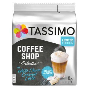 TASSIMO Kapseln Typ White Choco Coconut Latte Coffee Shop Selections 8 Getränke