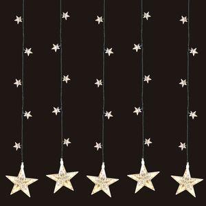 LED Sternenvorhang Lichtervorhang 100LEDs / 105x100cm