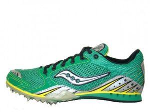 Saucony Velocity Spike 3 Spikeschuhe Laufschuhe Grün/Schwarz/Silber/Gelb, Schuhgröße:Eur 44.5