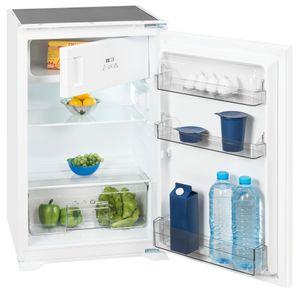 Exquisit Einbau-Kühlschrank EKS 130-4  | 120L(105/15)L Fassungsvermögen | Energieeffizenz+ | Weiß