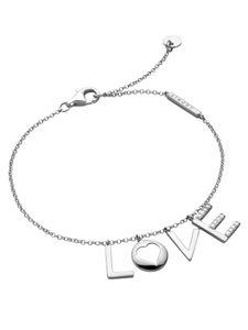 Esprit ESBR00231118 Damen Armband LOVE AmorySilber Weiß 22 cm