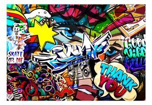 Vlies Tapete  Top  Fototapete  Wandbilder XXL  400x280 cm - GRAFFITI STREET ART MUSIK i-C-0178-a-a