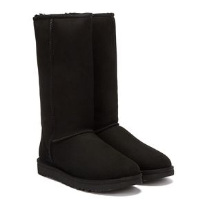 UGG Classic Tall Schwarze Damen Stiefel