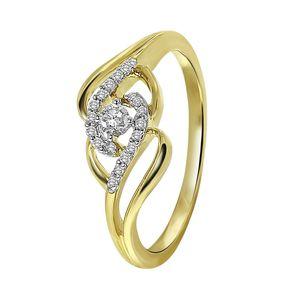 Ring aus 585 Gelbgold mit Diamant -  57