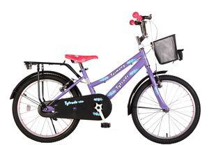 20 ZOLL Kinder Mädchen City Fahrrad Kinderfahrrad Cityfahrrad Citybike Mädchenfahrrad Kinderrad Mädchenrad Bike Rad Rücktritt Rücktrittbremse STVO Beleuchtung TAZMANY LILA TY2021
