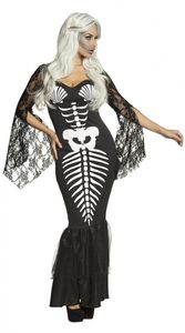 Boland kostüm Skelett Meerjungfrau Damen Größe 36/38