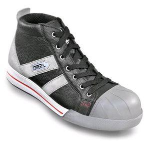 OTTER 55453 Sicherheitsschuh Arbeitsschuhe Flach Sneaker Chuck cool modern S2, Größe:36