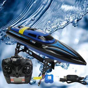 Efaso H100 RC ferngesteuertes Boot 2,4 GHz Speedboot 25km/h schnell Racing Boot Bootsspielzeug für Pools und Seen