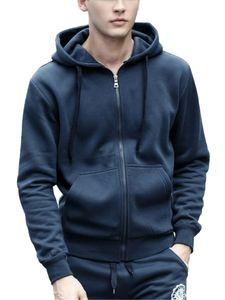 Herren Reißverschluss Cardigan lässig Kapuzenpullover plus Size Jacke,Farbe: Blau ,Größe:XXL