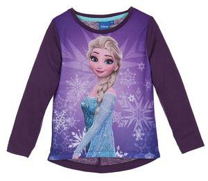 Disney Frozen Kinder Langarmshirt mit Elsa, lila, Größe:116