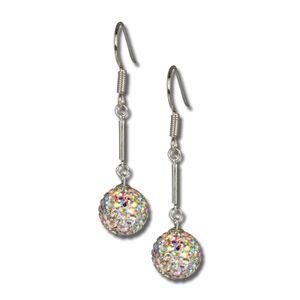 SilberDream weiß Ohrringe Swarovski Elements Damen 925 Silber Ohrhänger GSO101