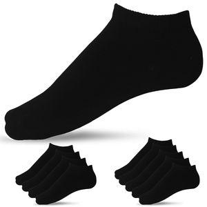 Damen Frauen Uni Sneaker Socken Kurz Schwarz Weiß Grau 10er Paar Pack Baumwolle Anti Schweiß 37-42
