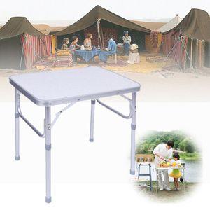 Alu Campingtisch Klapptisch Gartentisch Partytisch Picknicktisch 60x45cm Falttisch Höhenverstellbar Beistelltisch
