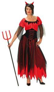 Teufelin Teufel Karneval Fasching Kostüm Gr 36