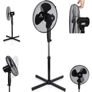 AERSON Standventilator Ventilator Windmaschine Luftkühler Oszillierend 50W Schwarz