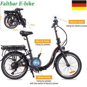 FAFREES 20F054 Faltbares E-Bike Elektrofahrrad Montainbike Citybike Fahrrad Elektrofahrräder 250W 20 Zoll LCD Dispaly 7-Gang Getriebe 25KM / H