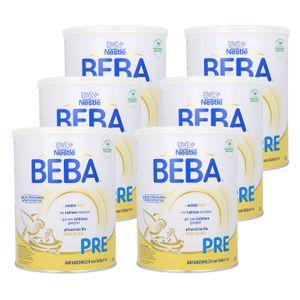 Nestlé BEBA Pre, Säugling Milch, Babynahrung, Anfangsmilch, Von Geburt an, Dose, 6 x 800 g, 12430365