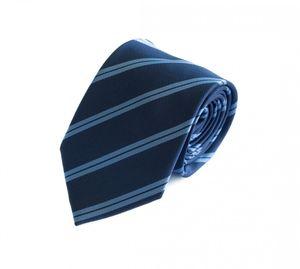 Schlips Krawatte Krawatten Binder 8cm blau hellblau gestreift Fabio Farini