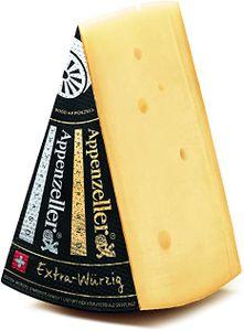 Appenzeller Käse  EXTRA WÜRZIG 500g  Schweizer Käse KÜHLBOX-Versand mit Styroporbox und Spezialkühlakku für Lebensmittelversand