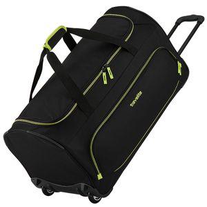 Travelite Basics Fresh Duffel Trolley Reisetasche mit Rollen 89 L 096277, Farbe:Schwarz