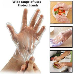 300 Stück   Einweghandschuhe  Klare Handschuhe aus   Kunststoff  Lebensmittelreinigung    Catering