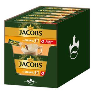 JACOBS Löskaffee 3in1 Typ Caramel löslicher Kaffee 12 x 10+2 Getränke Sticks