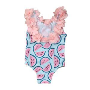 Haut freundlicher Baby Mädchen Badeanzug UPF 50 Sonnenschutz Kleinkind Einteiler Bademode Rücken frei Bikini Größe 110