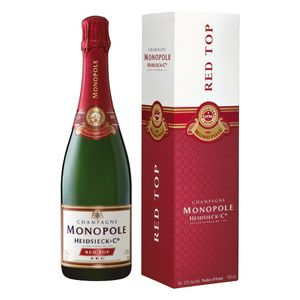 Heidsieck & Co. Monopole Red Top Champagner sec in Geschenkpackung Champagne Frankreich | 12 % vol | 0,75 l
