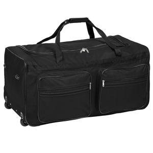 tectake Reisetasche mit Rollen 160 Liter - schwarz