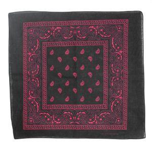 Bandana Tuch - Paisley Muster PINK quadratisches Kopftuch