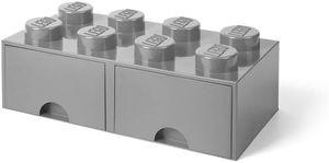 LEGO aufbewahrungsstein mit Schubladen 8 Noppen 50 x 18 cm PP hellgrau