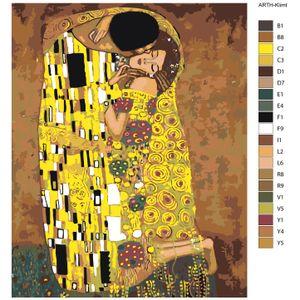 """Malen nach Zahlen """"Kuss"""", 40x50cm, ARTH-Klimt"""
