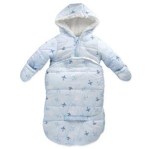 Baby Jungen 2-in-1 Snowbag Fußsack Jacke Winter Flugzeuge blau 62 (0-3 Monate)