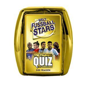 Top Trumps Quiz Weltfußball Stars Ratespiel Wissensspiel Fragespiel Gesellschaftsspiel