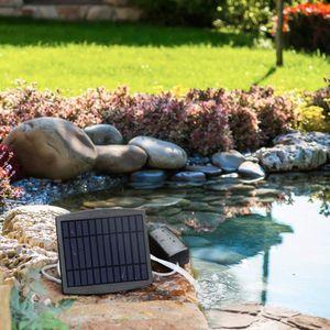 Solar Teichbelüfter,Luftpumpe Sauerstoffpumpe Tag und Nacht für Garten, Teich, Aquarium (2.5W)