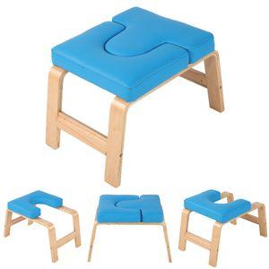 Yogahocker Kopfstand Stuhl Kopfstandstuhl Headstander Fitness PUKisse Birkenholz